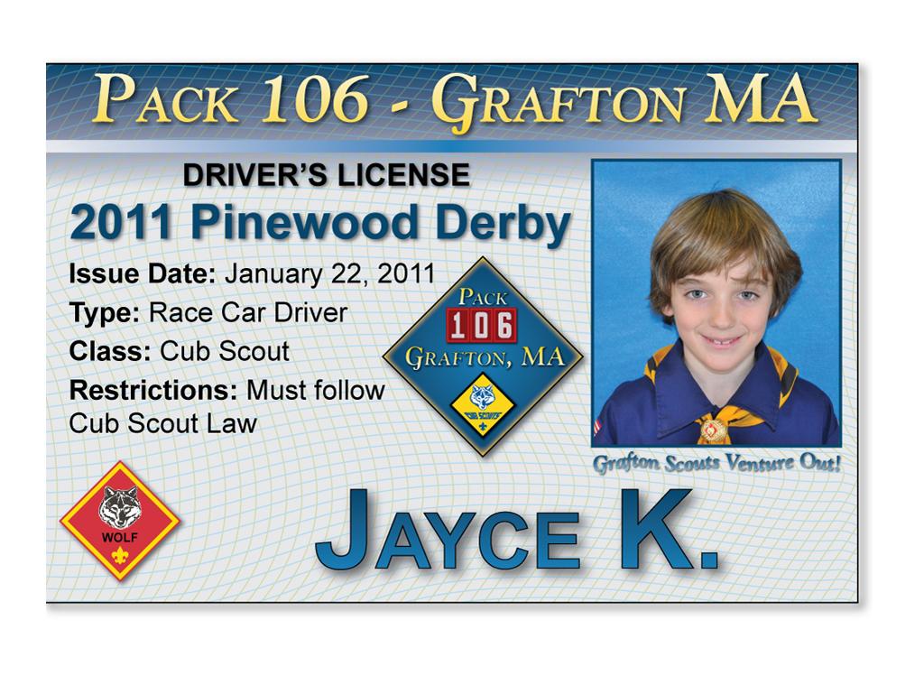 Jayce K U2019s Race  U201cdriver U2019s License U201d  U2013 Pack 106 In Grafton  Mass